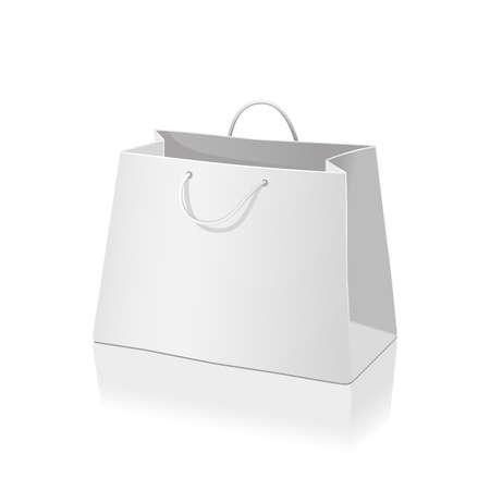白で隔離空ショッピング紙袋