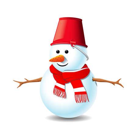 Sneeuwpop Stock Illustratie