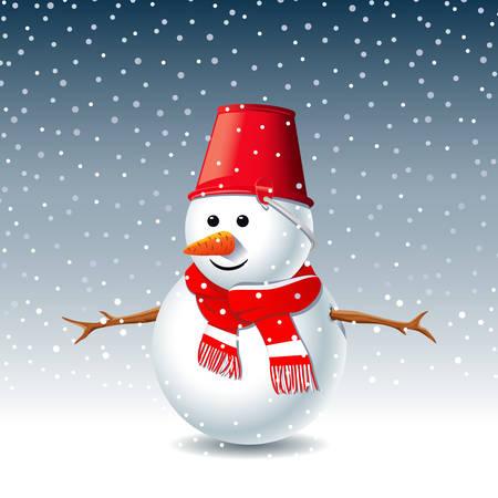 雪だるまグリーティング カード