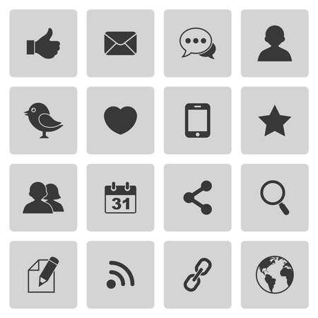 ソーシャル メディアのアイコン  イラスト・ベクター素材