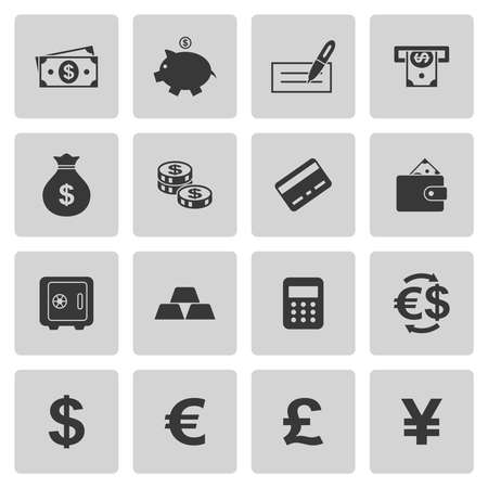 yen sign: Money icons