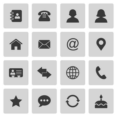 communication icons: Contact icons