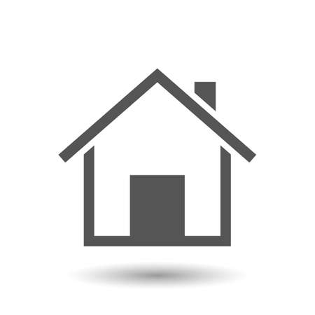 home vector icon isolated on white background