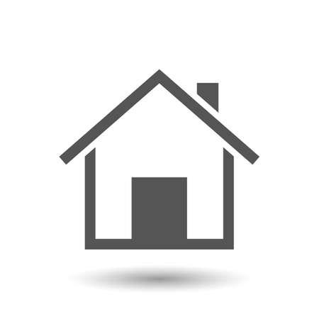huis vector pictogram op een witte achtergrond
