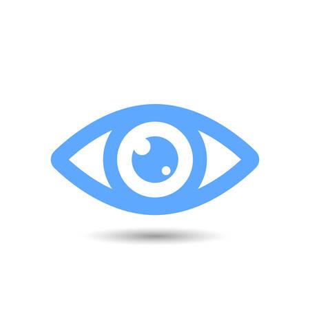 Eye vector icon isolated on white background Ilustração