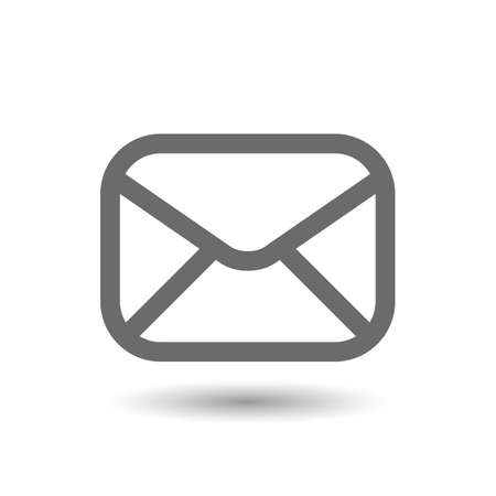 Vector envelope mail icon isolated on white