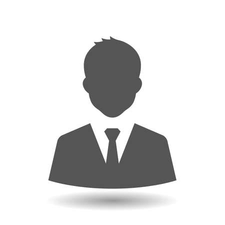 Businessman icon on white background. Vector illustration.