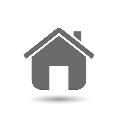 residential house: Vector home icon isolated on white background Illustration