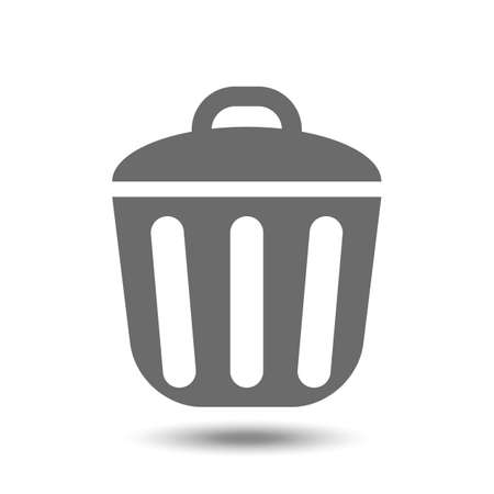 Vector trash can icon isolated on white background Illustration