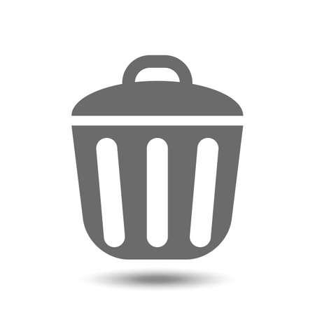 Vector prullenbak geïsoleerd op een witte achtergrond icoon