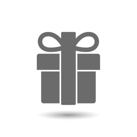 Vector gift icon isolated on white background