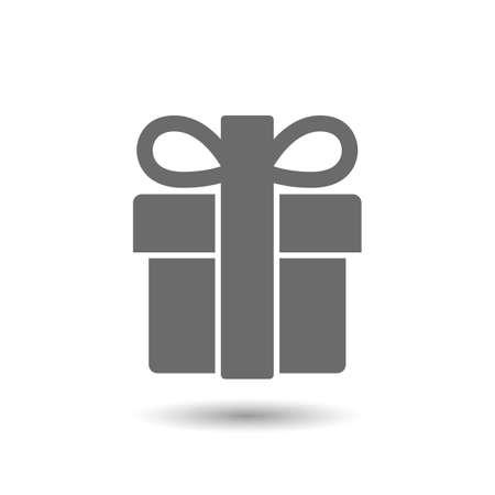Vector gift pictogram op een witte achtergrond