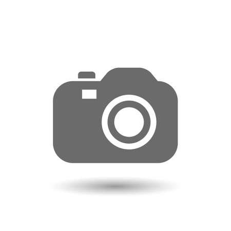 Vector illustratie van de camera-icoon op een witte achtergrond Stock Illustratie