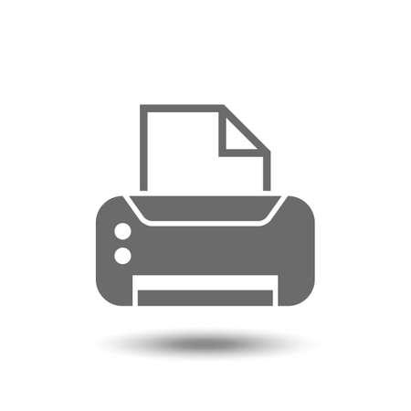 Vector afdruk icoon Stock Illustratie
