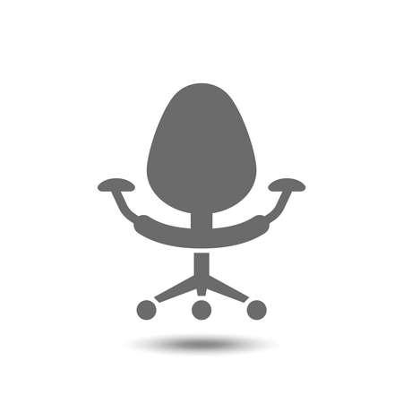 Bureaustoel pictogram op een witte achtergrond. Vector illustratie