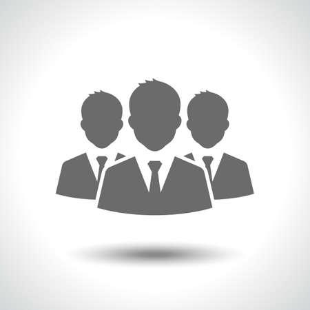 group leader: Business leader icon isolated on white background