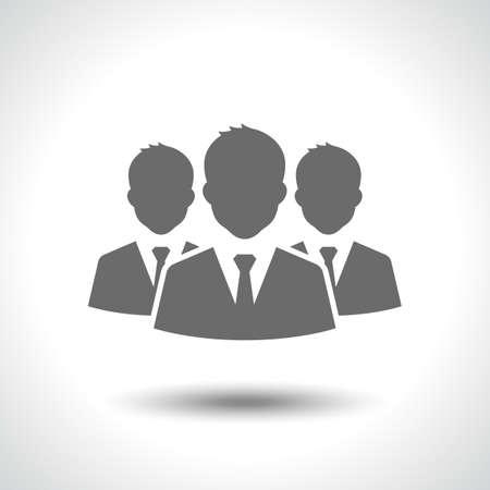 lider: Icono de líder de negocios aislada sobre fondo blanco Vectores