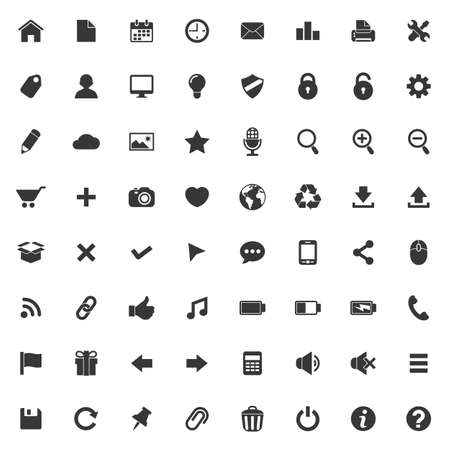 toolbar: Set of vector icons for web and mobile applications Illustration