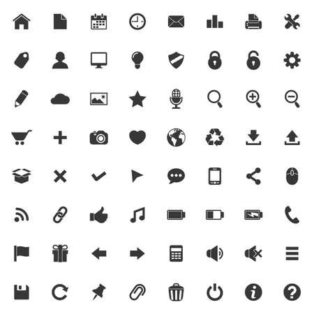 Set van vector iconen voor web en mobiele toepassingen Stock Illustratie