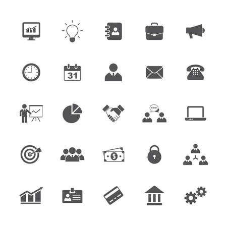 Business icons set. Vector illustration Ilustração