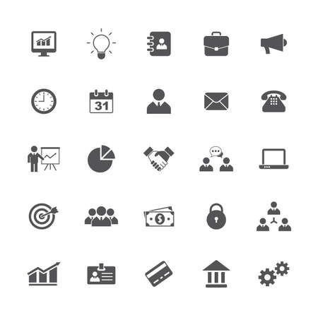 Business icons set. Vector illustration Vettoriali
