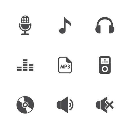 音楽のアイコンを設定します。ベクトル図