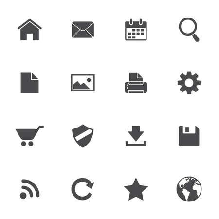Web pictogrammen set