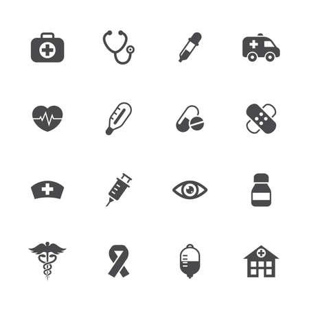 saline: Vector illustration of medical icons set