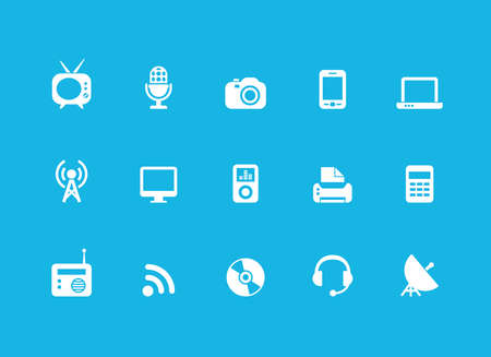 technology icon: Technology icons set. Vector illustration