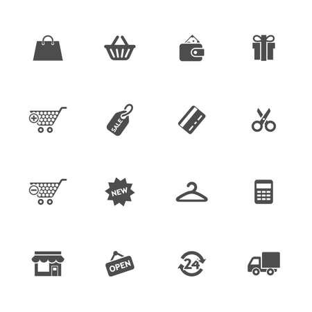 Reeks het winkelen vectorpictogrammen Stock Illustratie