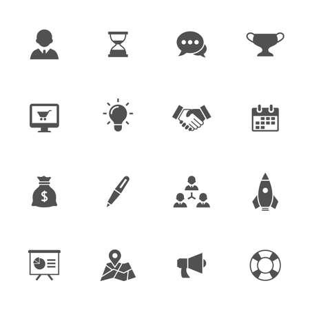 Pictogrammen bedrijfs van de