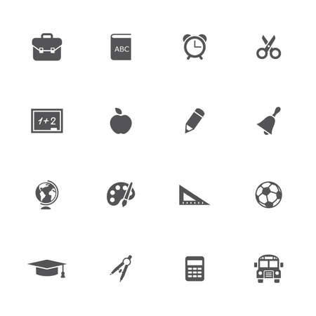 School icons set. Vector illustration. Illustration