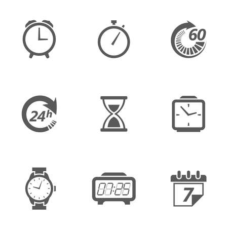 Time concept vector icons.