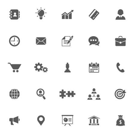 Business concept vector icon set