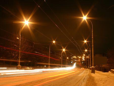 nuit hiver: sc�ne de nuit dhiver en Ukraine