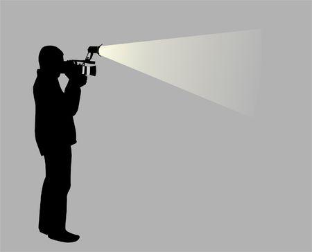 cameraman in night photo