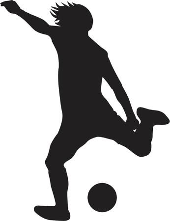 jugador de futbol soccer: jugador del f�tbol Vectores