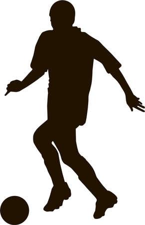 runing: soccer player
