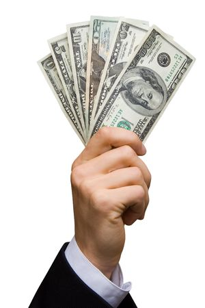 American dollars in a hand (contains clipping path) Stock Photo - 478817