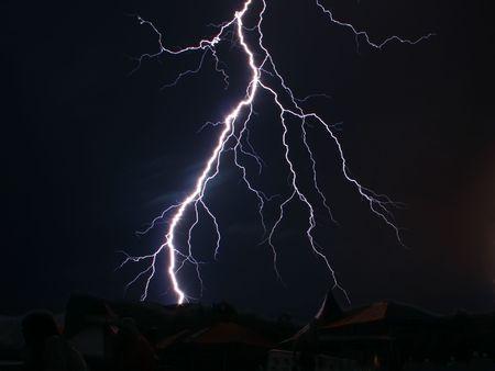 night lightning Stock Photo