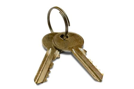 doorkey: two keys (contains clipping path) Stock Photo