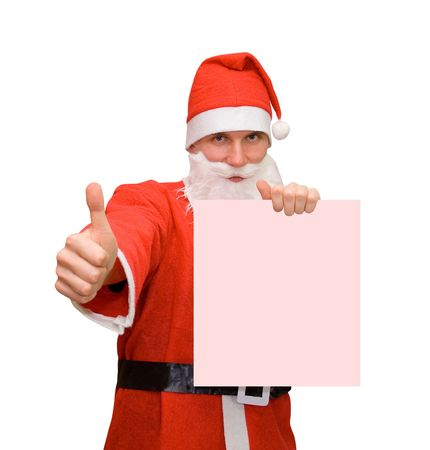 Santa Claus & business card photo
