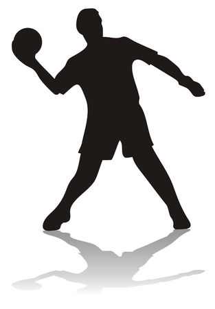 Silhouette of soccer player with ball photo
