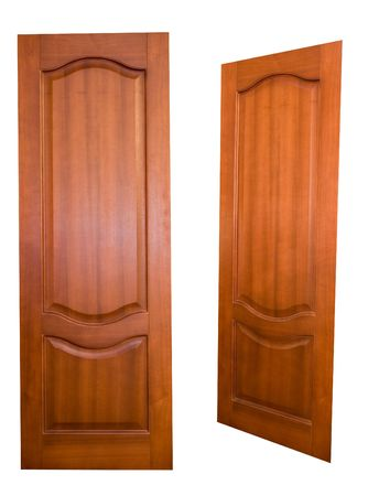 wooden doors (with clipping paths) Stock Photo - 678085