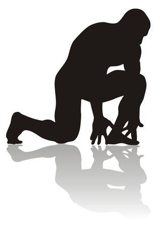 deltoids: silhouette of bodybuilder