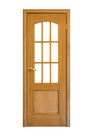 wooden door isolated on white #4 (contains clipping path) Stock Photo - 932718