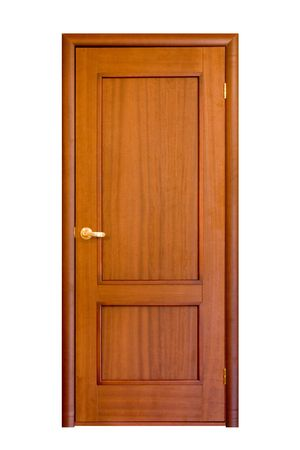 wooden door isolaten on white #5 Stock Photo - 932719