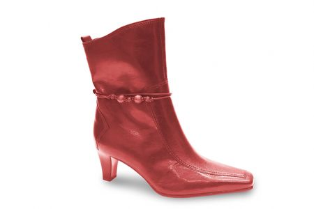 red woman boot isolated on white Stock Photo - 2591910