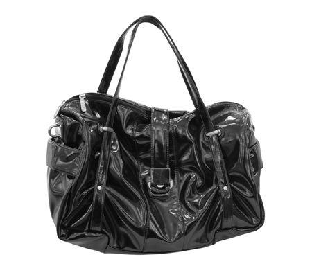 black woman handbag isolated on white Stock Photo - 3344119