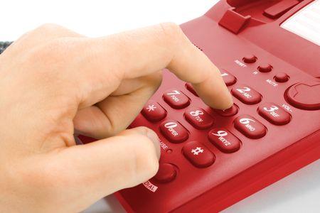 dialing: de marcaci�n. dedo de la mano y teclado de tel�fono
